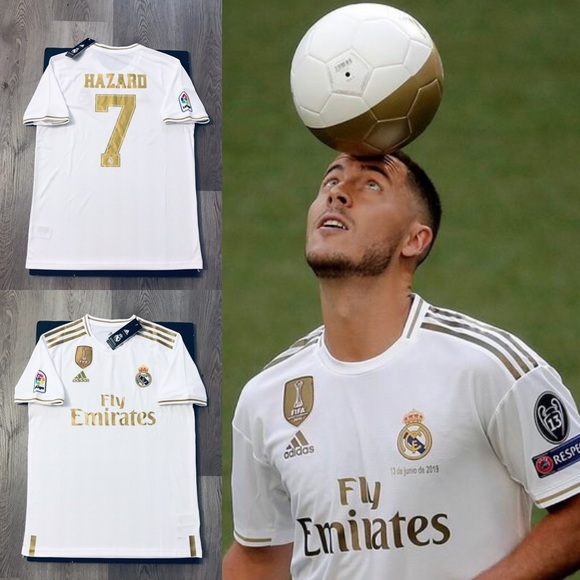 brand new a17b2 f5928 Eden Hazard #7 soccer jersey Real Madrid home NWT